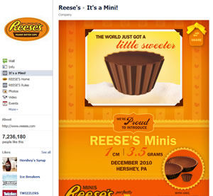 Reese's Facebook Fan Page | Jabari Holder