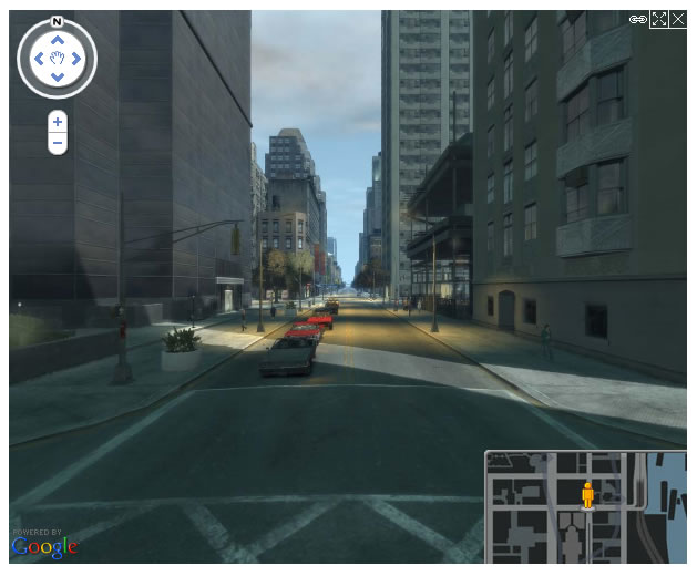 grand theft auto 4 map - google maps