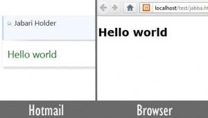 Hotmail Browser comparison