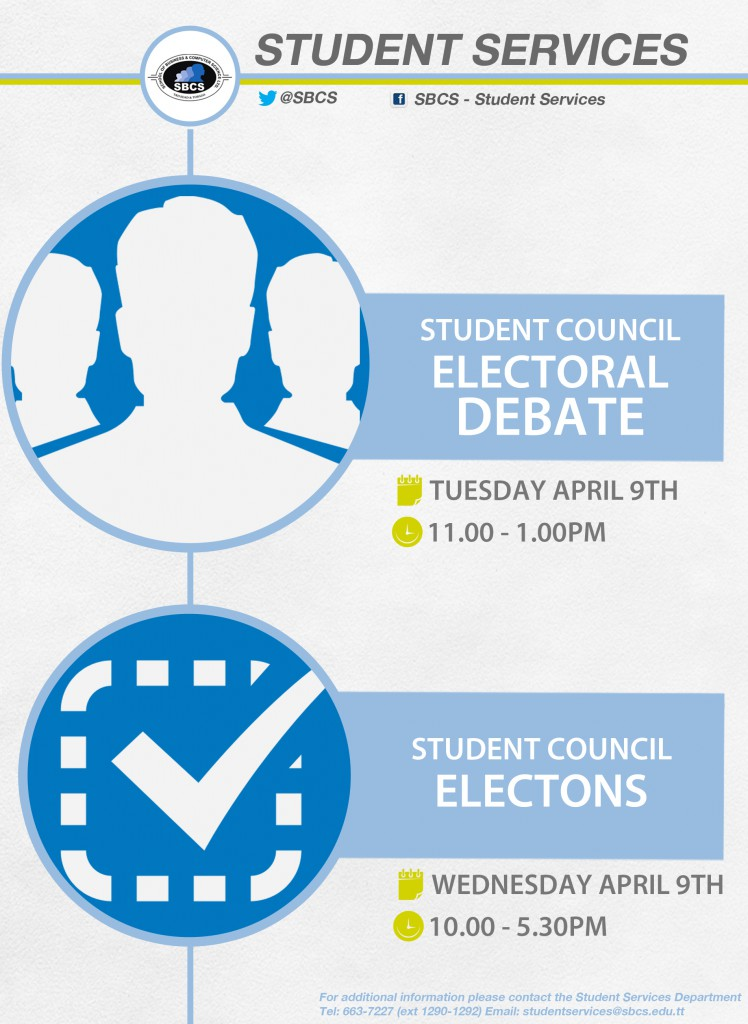 SBCS Student Council Elections Flyer