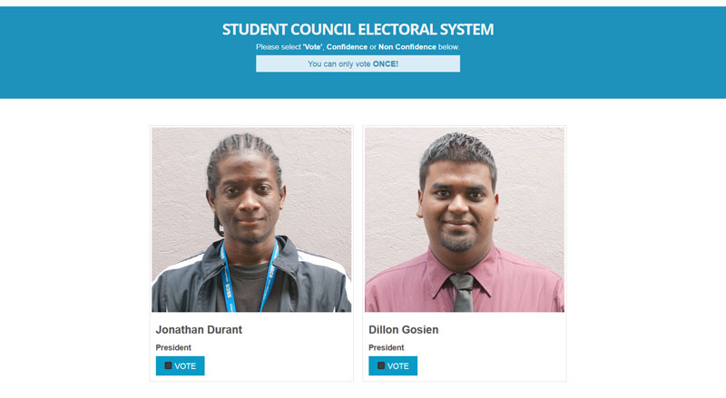 SBCS Student Council Elections Presidents
