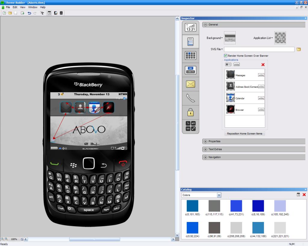 AboVo Blackberry Theme Production