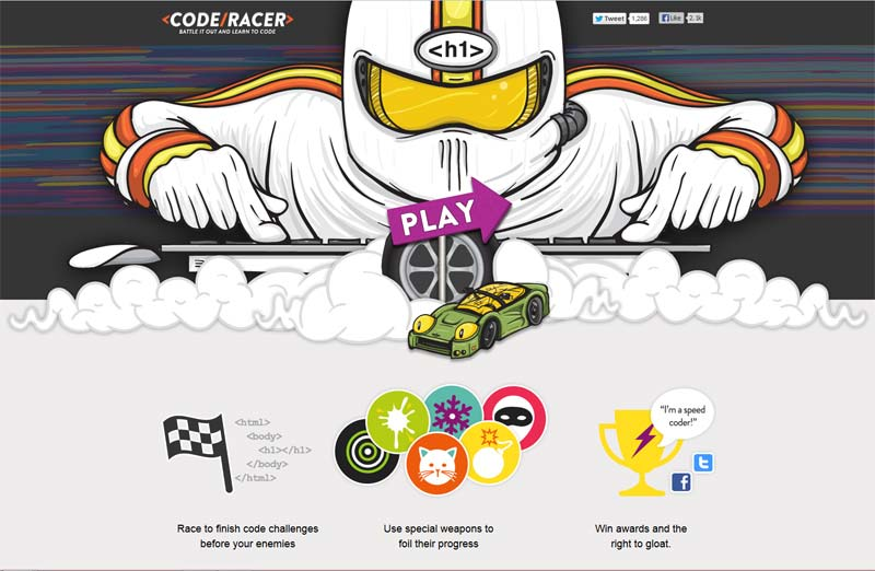 The Code Racer Web Development Game