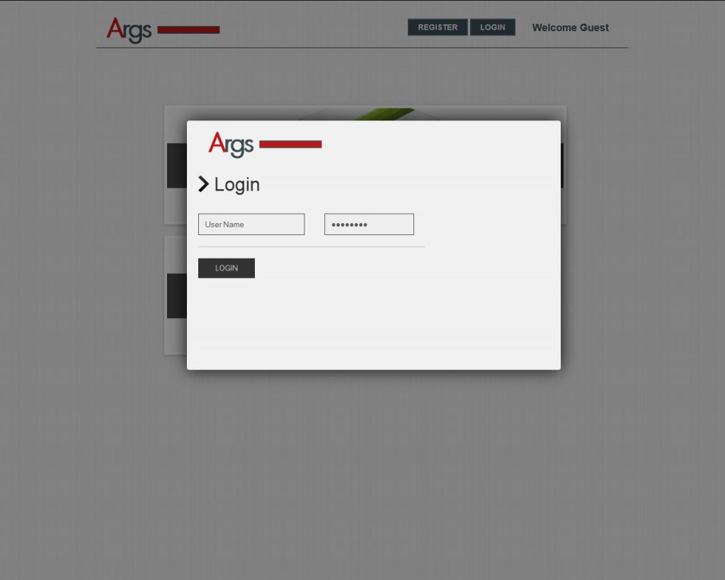 Args login page