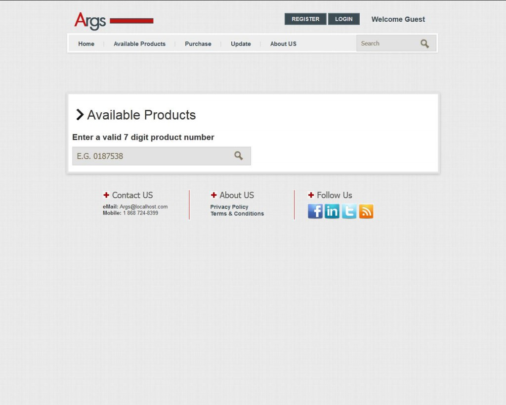 Args search for product