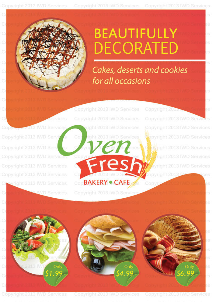 Oven Fresh Bakery Flyer