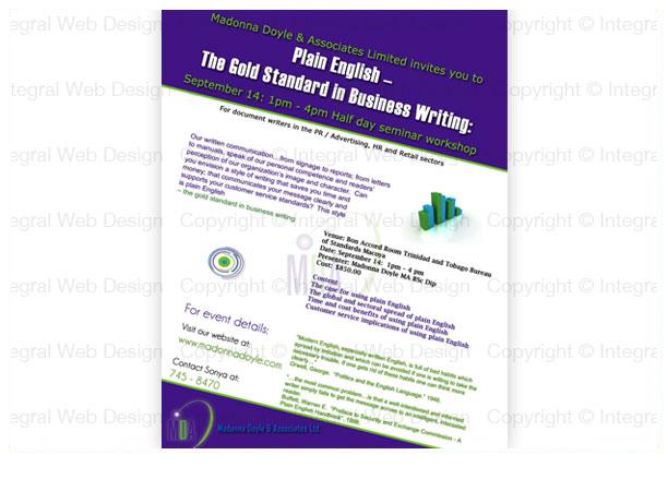 Flyer Design 3 - Madonna Doyle and Associates