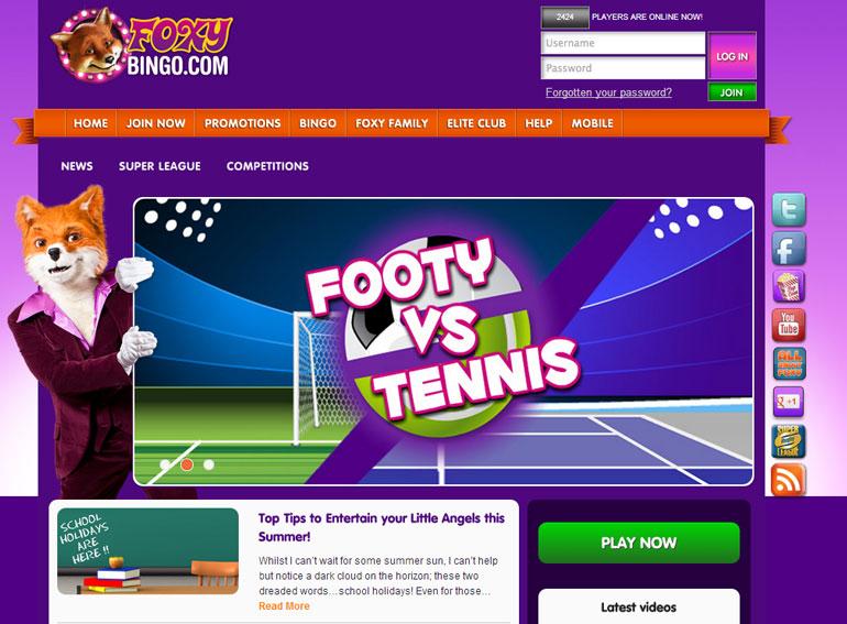 Foxy Bingo Blog Home