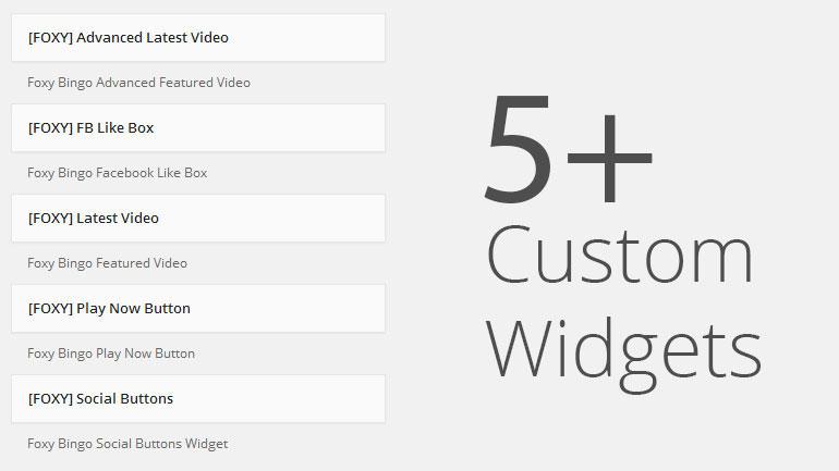 Over 5+ custom widgets built