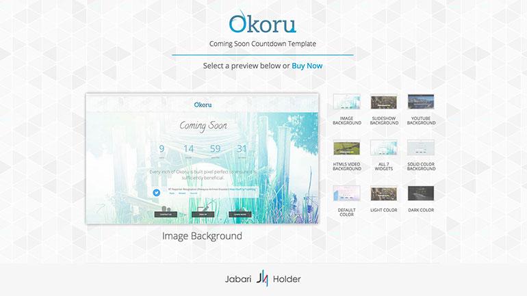 Okoru Cover Template Select Screen