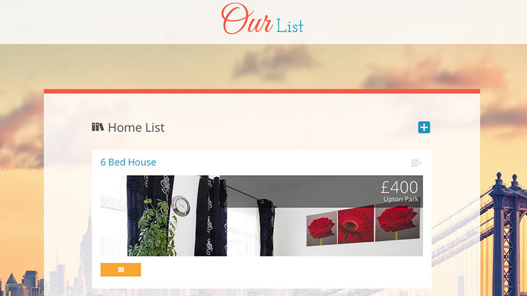Our List Online Page