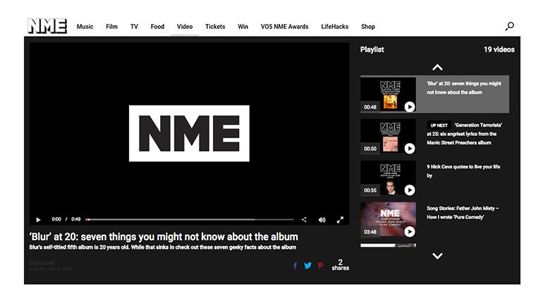 NME video hub
