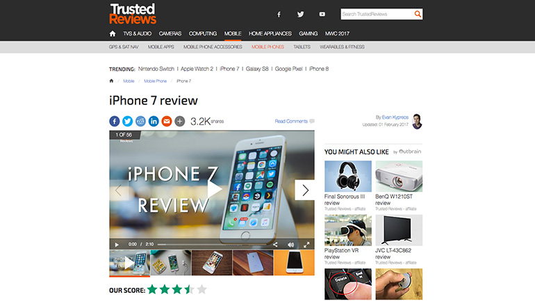 Trusted Reviews article player