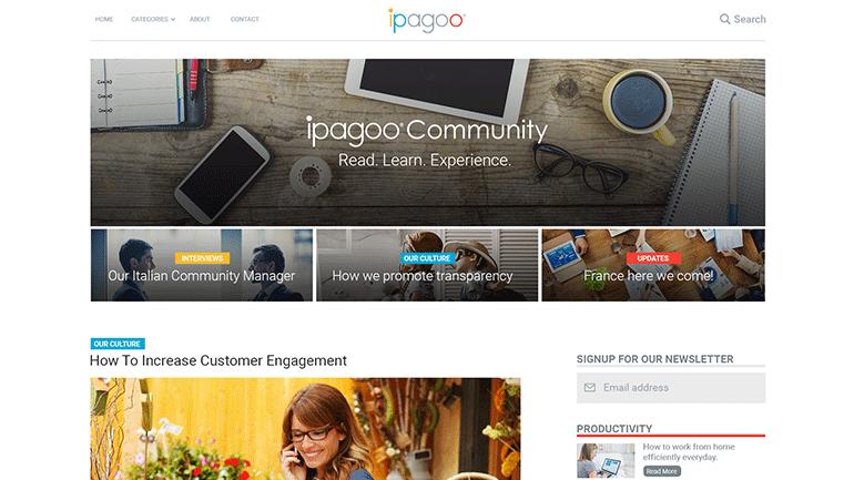 ipagoo Blog designs